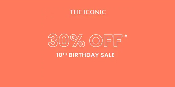 The Iconic 10th Birthday sale (Live now to public) - 40% OFF on fashion, sport, beauty, kids & home