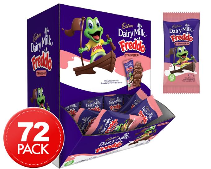 Shop Cadbury Freddo Frog Strawberry 72 x 15g -best price deal- now $24.95 + free shipping