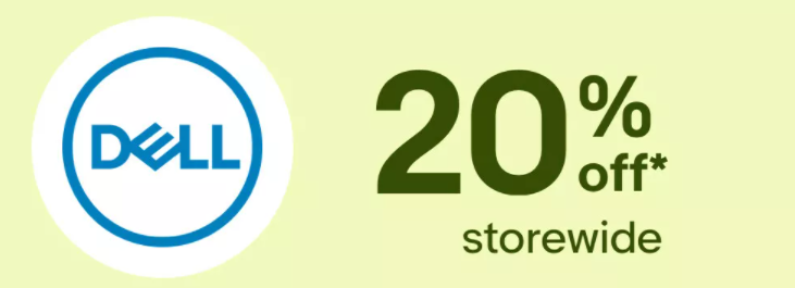 Score extra 20% OFF storewide at Dell eBay store with voucher