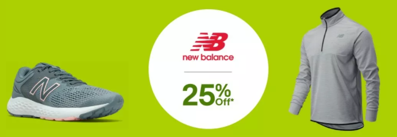 eBay New Balance extra 25% OFF on full priced items with discount code