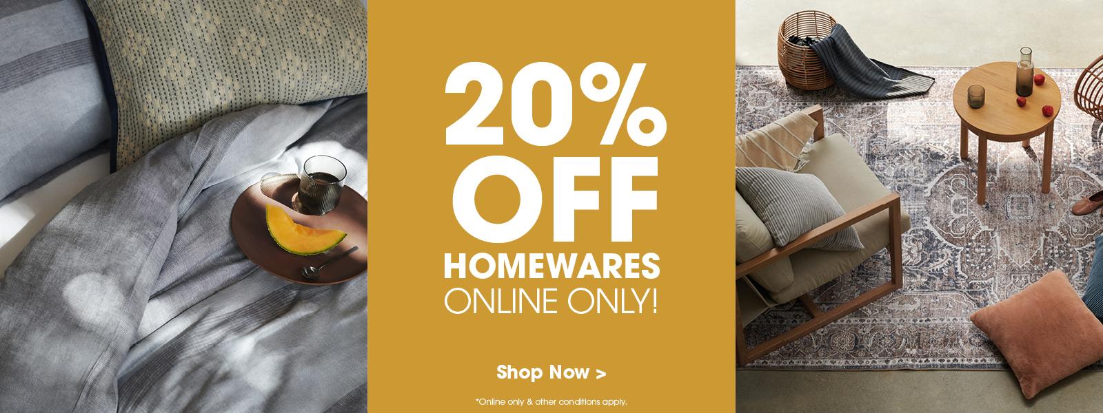 20% Off All Homewares