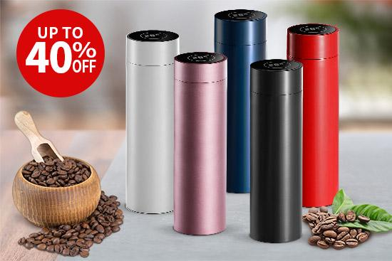 Save up to 40% OFF on LCD screen water bottles