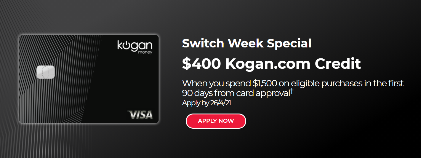 Get $400 Kogan.com Credit when you spend $1,500 on eligible purchases
