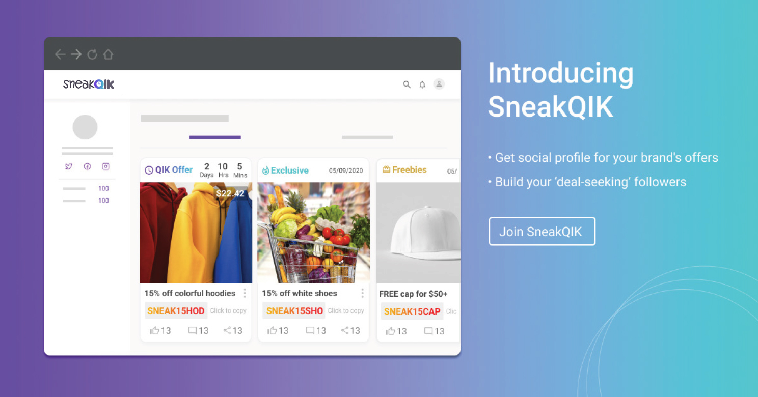 Get 80% OFF plus free 1 month trial on SneakQIK Premium plan now $19 with coupon