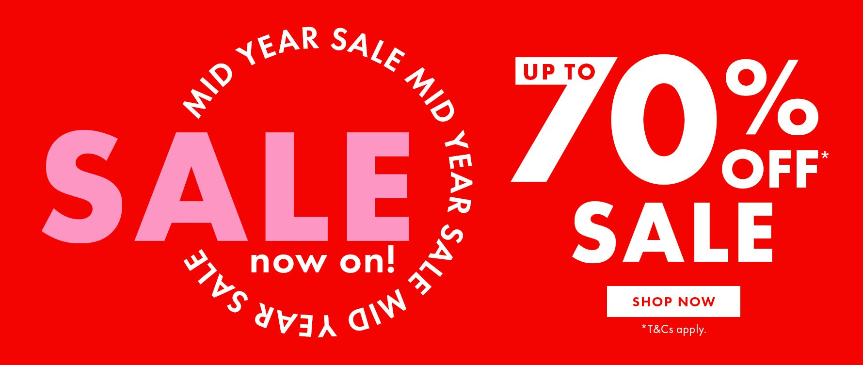 Up to 70% OFF on sale items