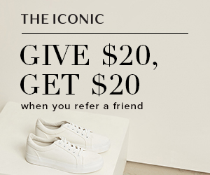 Give $20 and get $20 when you refer a friend from The Iconic