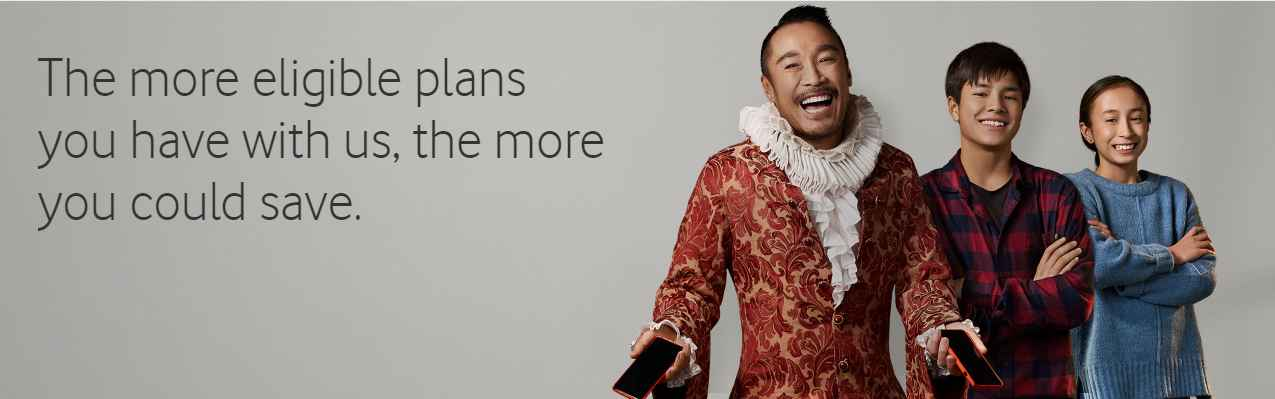 20% OFF when you bundle plans at Vodafone