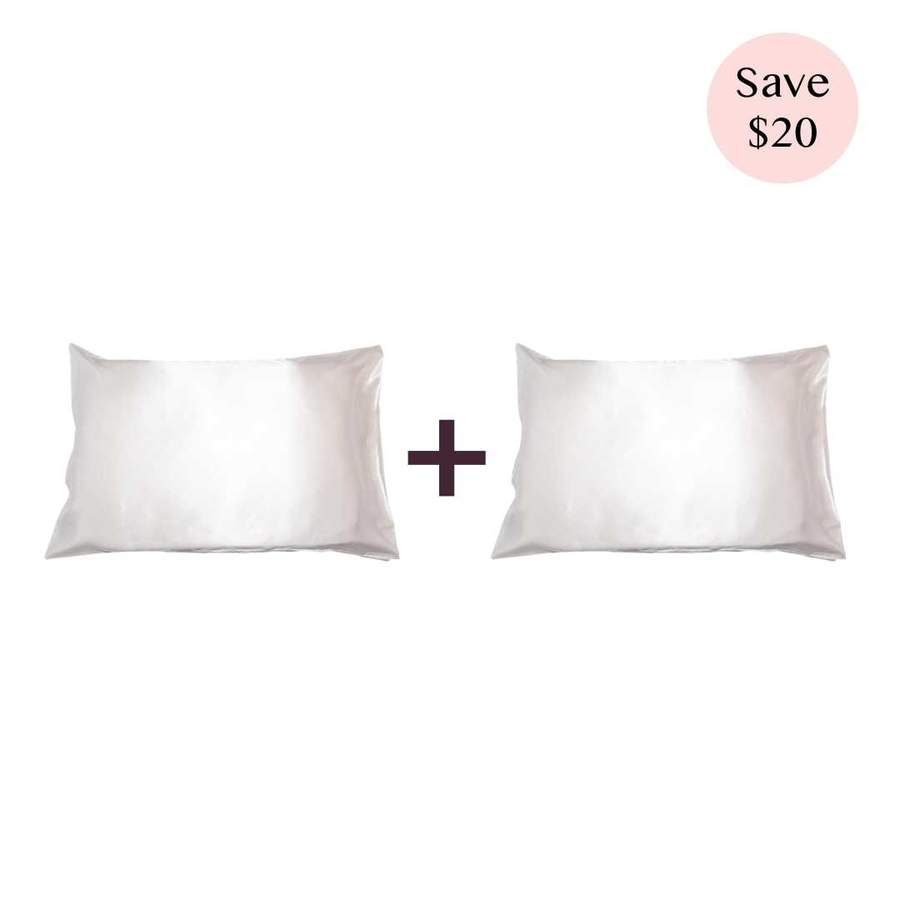 Save $20 OFF on Ivory Cloud Silk Pillowcase Sets now $138(was $158) at Zove Beauty